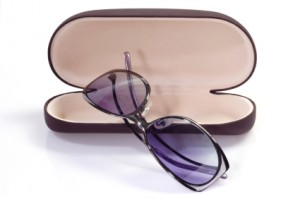 Sunglasses with spectacle case